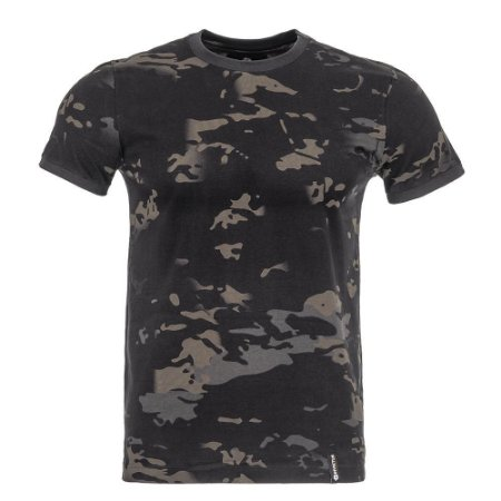 T-Shirt Tech Camuflado Multicam Black Invictus