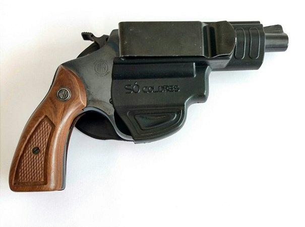 Coldre Velado em Polímero para Revolver 5 Tiros .38/.357 Só Coldres