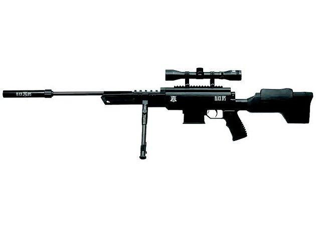 Carabina de Pressão Black Ops Cal 5,5mm c/ Luneta 4x32 Rossi