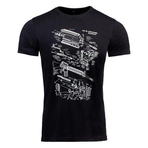 T-Shirt Concept AR-15 Black Invictus