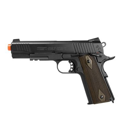 PISTOLA AIRSOFT COLT 1911 RAIL GUN CO2 6MM BLOWBACK - CYBERGUN
