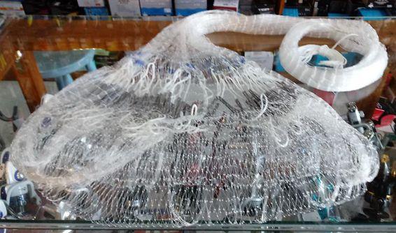 Tarrafa Malha 2,0 Fio 0,40mm Altura 1,9m Roda 10m O Pescador