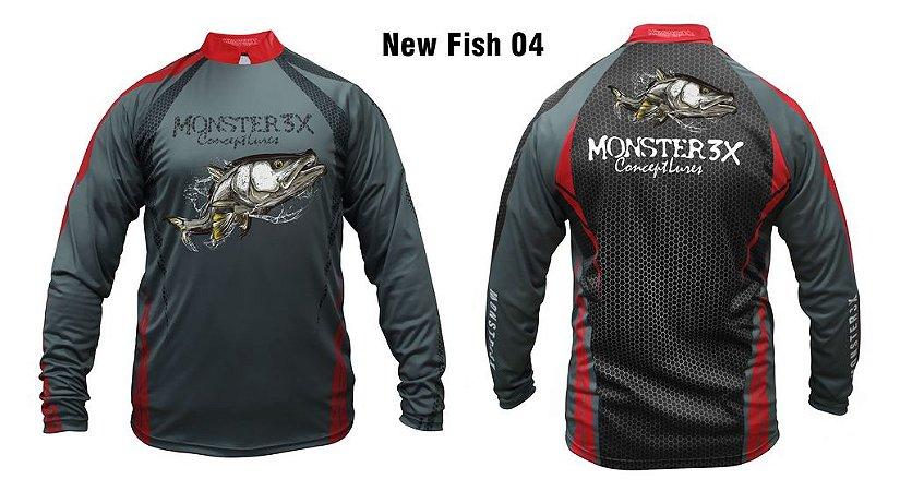 Camiseta de Pesca New Fish Robalo Monster 3x