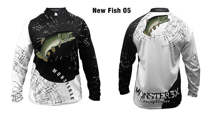 Camiseta de Pesca New Fish Traíra Monster 3x