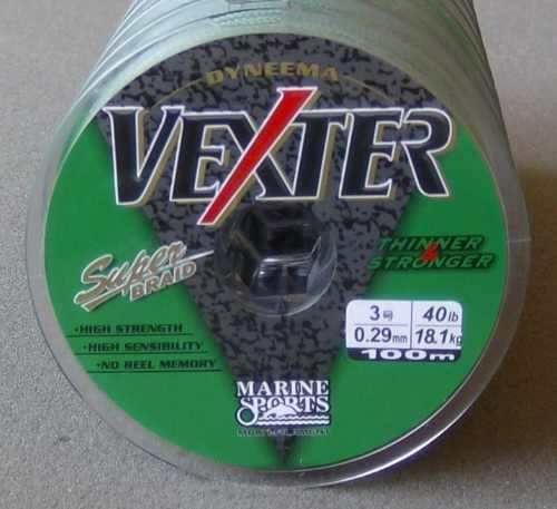 Linha Multifilamento Vexter 100M 0,29mm 40lbs Marine Sports