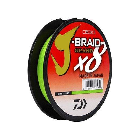 Linha DW J-Braid GR X8 Chartreuse 150y 40lbs 0,32m - Daiwa