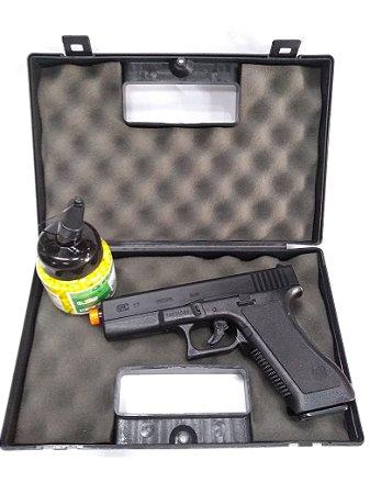 Kit Pistola Airsoft Glock G7 + Maleta Rossi + BBs 1000un 0,12g