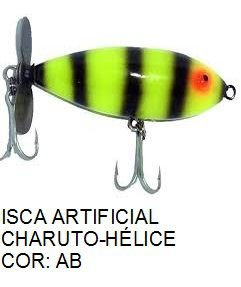 Isca Artificial 7cm Charuto-Hélice KV