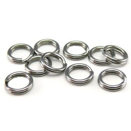 Cartela Com 10 Argolas Split Ring Inox Fishtex Nº0