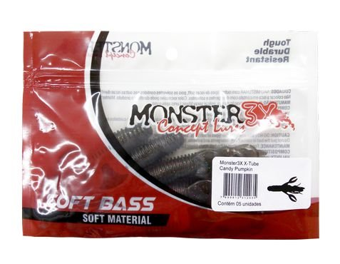 Isca Artificial Soft X-Tube 5 Unidades Monster 3x