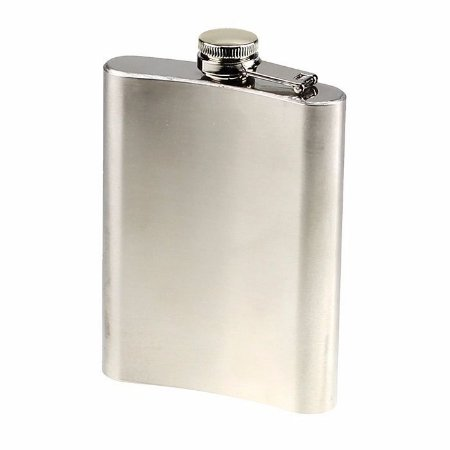Cantil Inox 8 OZ Hip Flask Stainless steel
