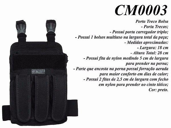 Porta Treco Bolsa Com Porta Carregador CM0003 - Cia Militar