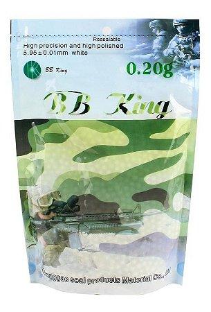 Esferas Plásticas BBs para Airsoft 5000un. 0,20g - BB King