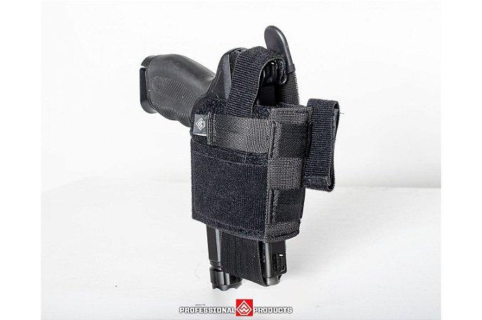 Coldre Police Universal Para Pistola Com Passador de Cinto - Warfare
