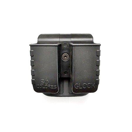 Porta Carregador Duplo (SC014) Para Glock - Só Coldres