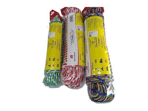 Corda Trançada Polipropileno Meada Pacote com 10m - Mazzaferro