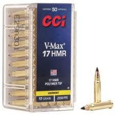 Munição Calibre 17 HMR CCI V-Max