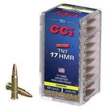 Munição Calibre 17 HMR CCI