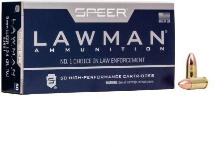 Munição Calibre 9mm LUGER 124 GR TMJ LAWMAN