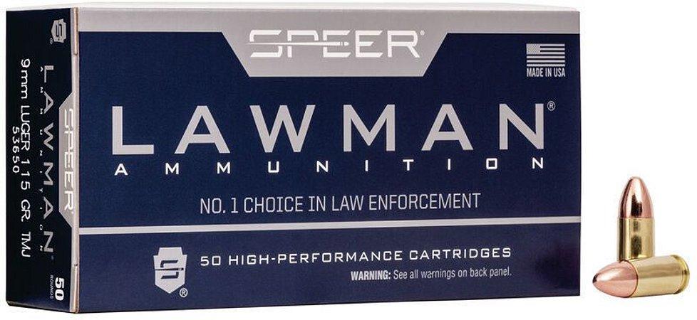 Munição Calibre 9mm LUGER 115 GR TMJ LAWMAN
