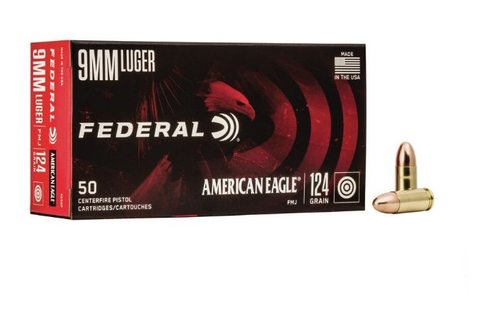 Munição Calibre 9mm LUGER 124 GR FMJ - Federal