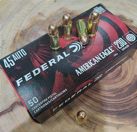 Munição Calibre 45 AUTO 230 GR FMJ - Federal