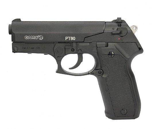 Pistola de Pressão Co2 P-80 Cal. 4,5mm - Gamo