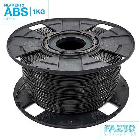 Filamento ABS 1.75mm Preto - 1Kg