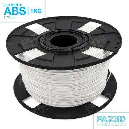 Filamento ABS 1.75mm Branco - 1Kg