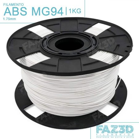 Filamento ABS MG94 (Premium) 1.75mm Branco - 1Kg