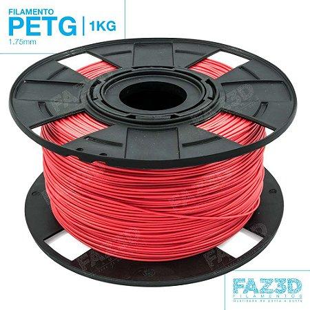 Filamento PETG 1.75mm Vermelho - 1Kg