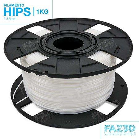 Filamento HIPS 1.75mm Natural - 1Kg