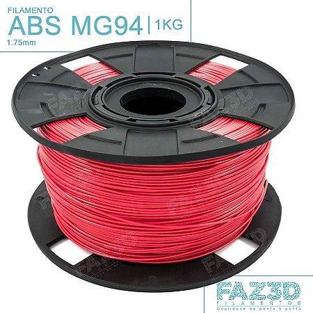 Filamento ABS MG94 (Premium) 1.75mm Vermelho - 1Kg