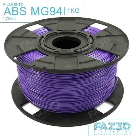 Filamento ABS MG94 (Premium) 1.75mm Roxo - 1Kg
