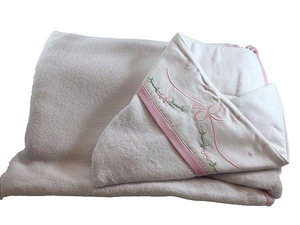 Toalha de Banho Laço Rosa