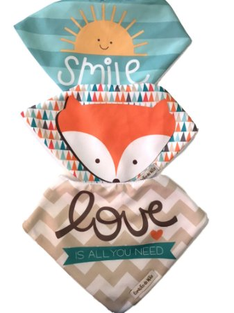 Babadores Raposa Love Smile