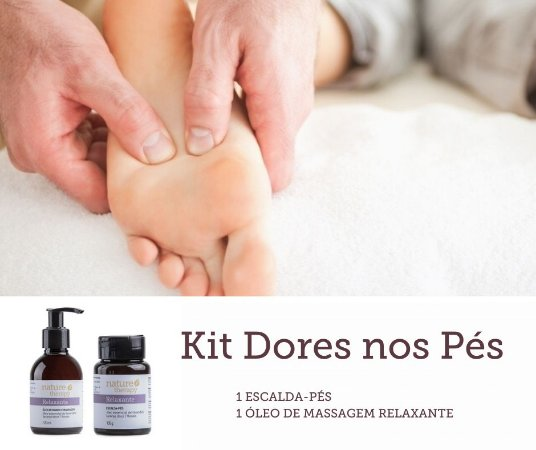 Kit Dores nos Pés (Escalda-pés + Óleo de massagem)