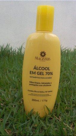 Álcool gel 200ml-175g