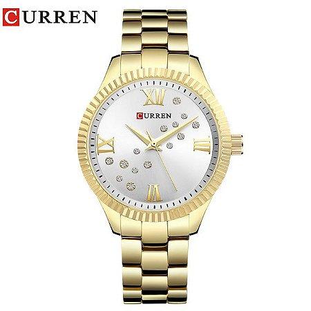 8c5b02ec96b Relógio Curren Feminino casual Aço Inoxidável 9009 - JotaClock ...
