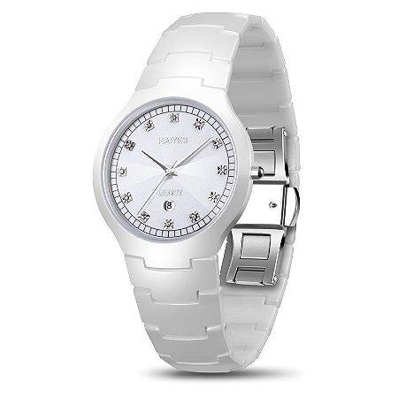 7a96ee0b300 Relógio HAIYES Fashion Feminino Cerâmica H004 - JotaClock - Relógios ...