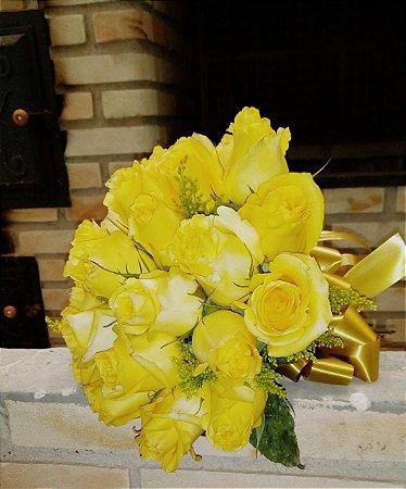 Buque de rosas amarelas