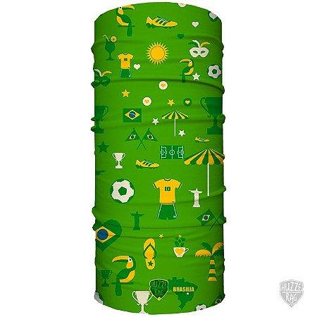 Bandana Tubular Huzze-Rag Edição Futebol - Brasil Vintage