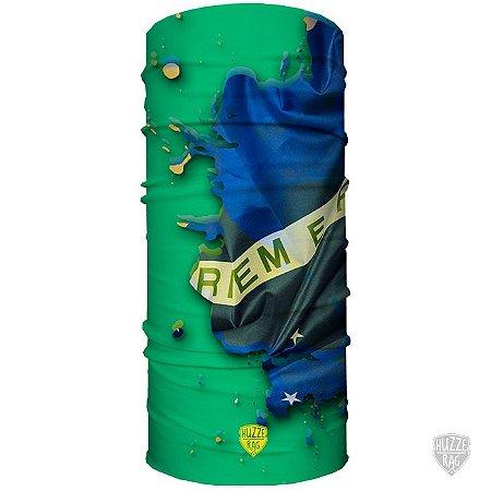 Bandana Tubular Huzze-Rag Edição Futebol - Brasil Fluído