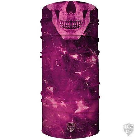 Bandana Tubular Huzze - Rag Eletric Skull Rosa