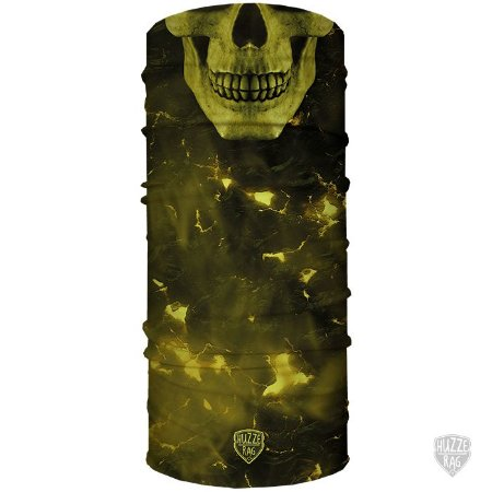 Bandana Tubular Huzze-Rag Eletric Skull Verde