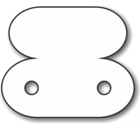 Etiqueta Para Brinco 1,8 x 1,5 cm - E05 - 1000 Unidades