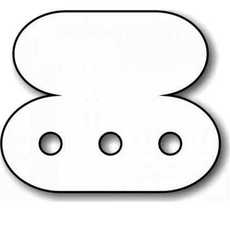 Etiqueta 03 Furos Para Brinco 1,8 x 1,5 cm - E07 - 1000 unidades