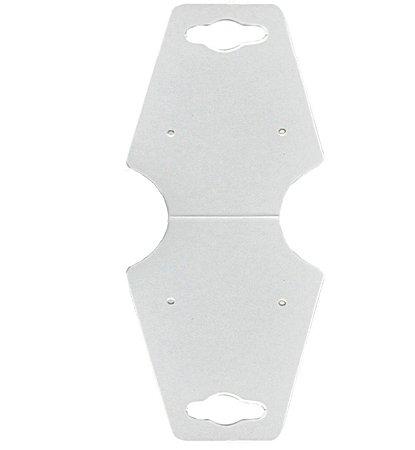 Cartela Gravata Grande para Conjunto - 6,7 x 15,7 cm - C28 Branca
