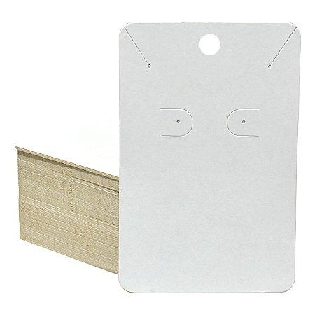 Cartela Para Brinco e Corrente -- 65 X 100 - Branca C40