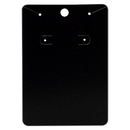 Cartela Para Brinco e Corrente  - 6,5 X 10 cm - C40 Preta